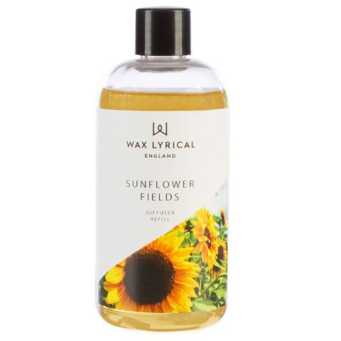 Sunflower Fields Fragranced Reed Diffuser Refill Made In England Wax Lyrical 200ml
